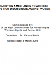 Project on a Mechanism to Address Laws that Discriminate Against Women