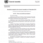 UN Resolution on Women's Political Participation
