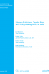Women Politicians, Gender Bias, and Policy-making in Rural India