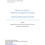 Women in Politics- Evidence of Legislative Change