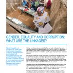 Gender, Equality and Corruption- What Are the Linkages?
