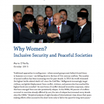 Why Women? Inclusive Security and Peaceful Societies