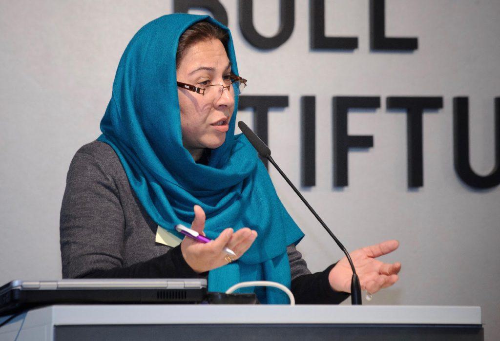 Afghan woman office